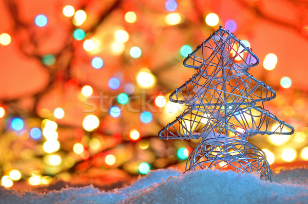 silver wired christmas tree Stock photo © mady70