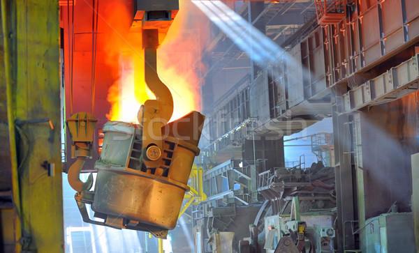 ホット 鋼 交通 液体 金属 火災 ストックフォト © mady70