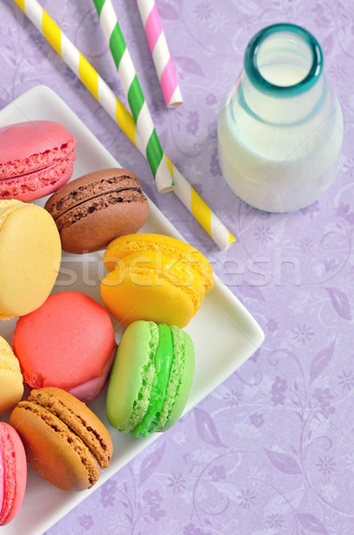 macaroons with jar glasses Stock photo © mady70