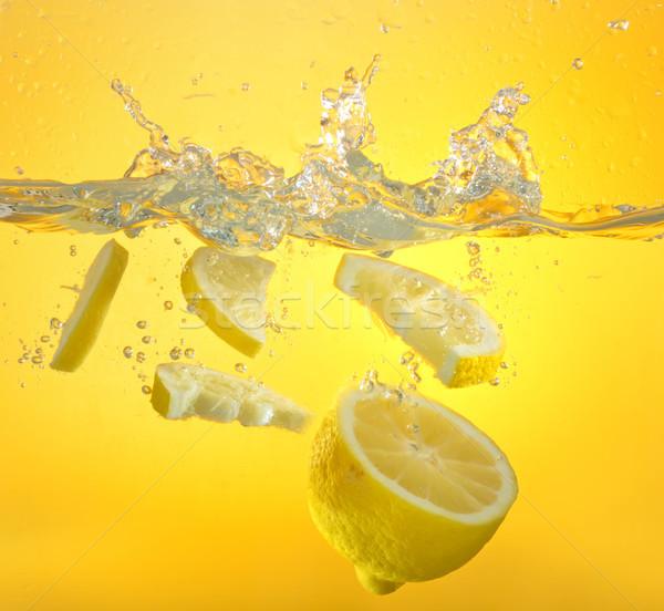 lemon and water splash Stock photo © mady70