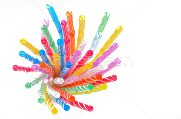multi color flexible straws Stock photo © mady70