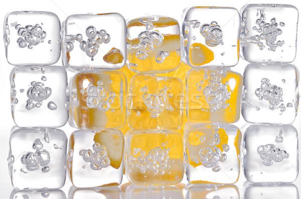 ice cubes and lemon slice Stock photo © mady70