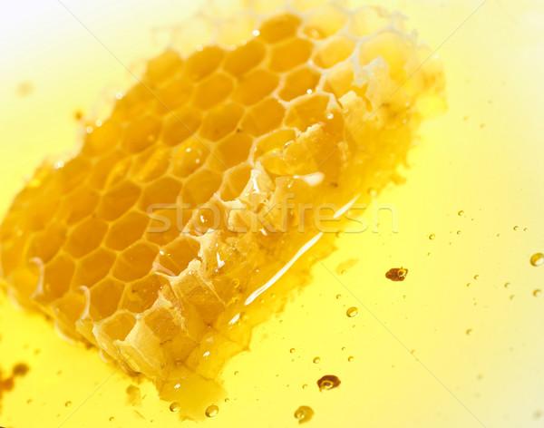 Plaster miodu charakter Pszczoła wzór żółty Zdjęcia stock © mady70