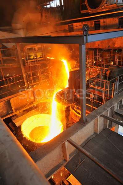 Foundry - molten metal poured Stock photo © mady70