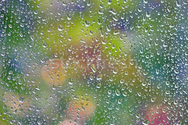 Yağmur damla pencere soyutlama su arka plan Stok fotoğraf © mady70