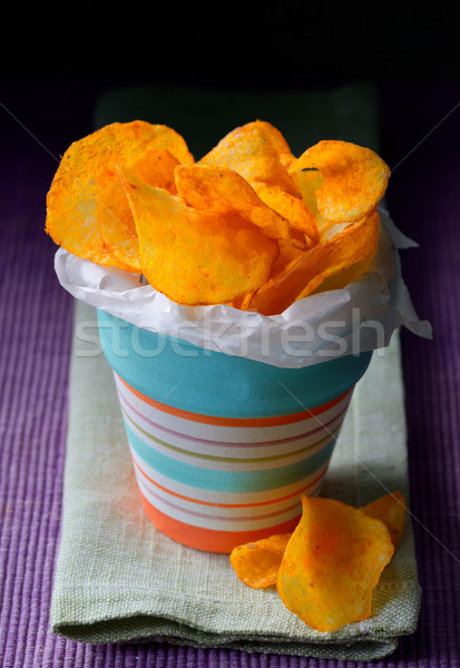 Paprika Potato Chips Stock photo © mady70