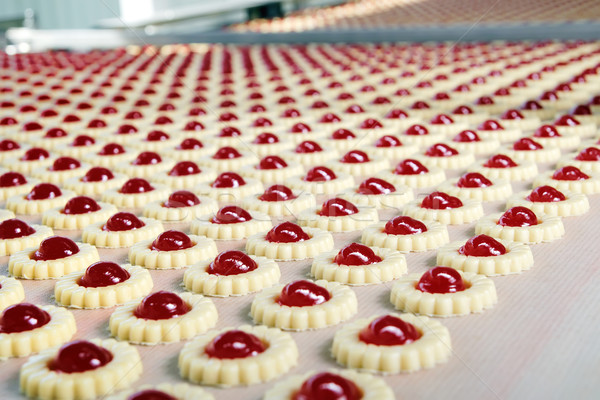 Foto stock: Produção · biscoitos · fundo · bolo · grupo · pão