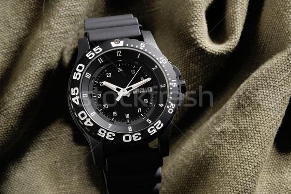 Katonaság óra álca ruha óra fém Stock fotó © mady70