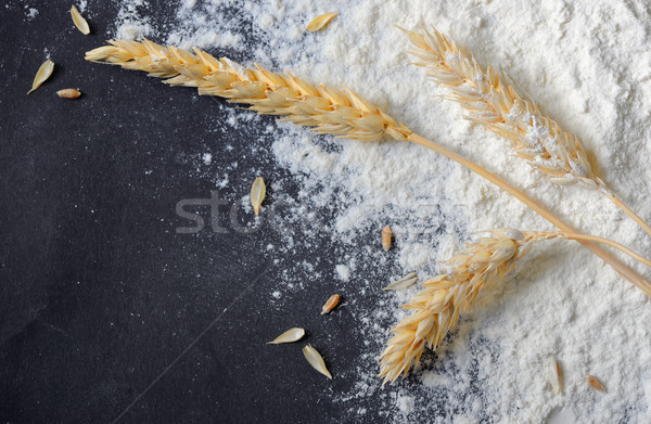 whole flour and wheat ears Stock photo © mady70