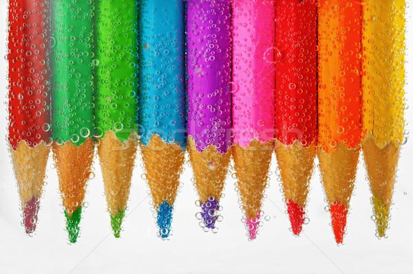 Stock fotó: Színes · ceruzák · víz · iskola · ceruza · narancs