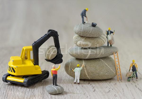 Werknemers bouw gebouw ontwerp Stockfoto © mady70
