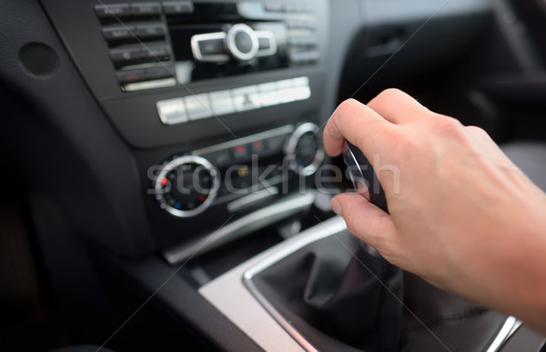 Driver shifting the gear stick Stock photo © mady70