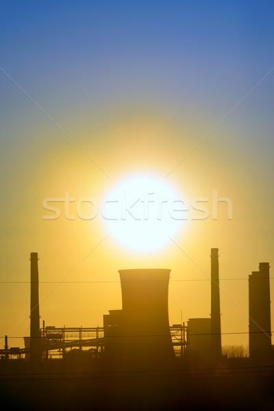 Industrial pôr do sol primavera tempo tecnologia metal Foto stock © mady70