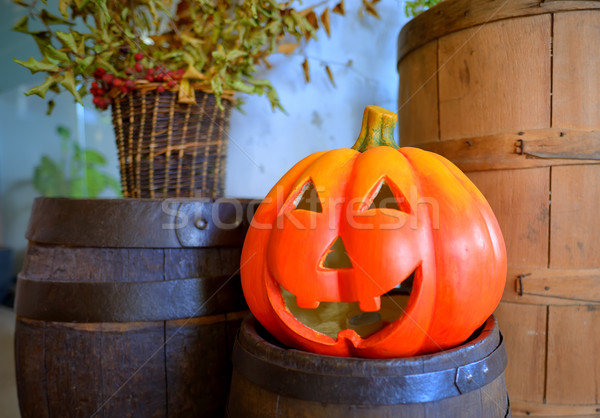 Halloween pumpkin head jack lantern Stock photo © mady70
