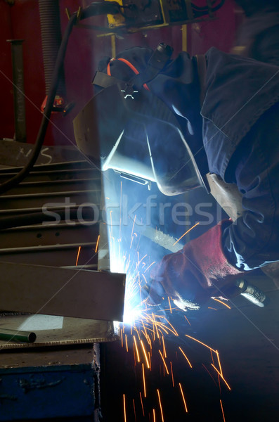 Saldatura lavoro maschera metal Foto d'archivio © mady70