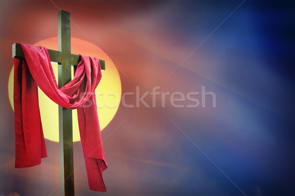 cross and sunset Stock photo © mady70
