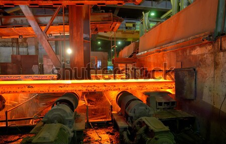 Stock photo: steel buckets to transport the molten metal