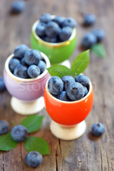 Fresh Blueberries on wooden table Stock photo © mady70