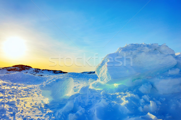 Ice in Greenland in spring time Stock photo © mady70