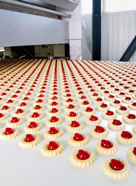 Producción galletas galleta fábrica fondo torta Foto stock © mady70
