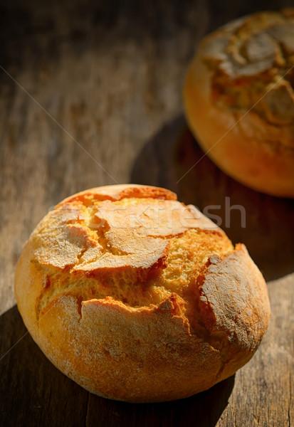 традиционный домашний хлеб деревянный стол пшеницы белый Сток-фото © mady70