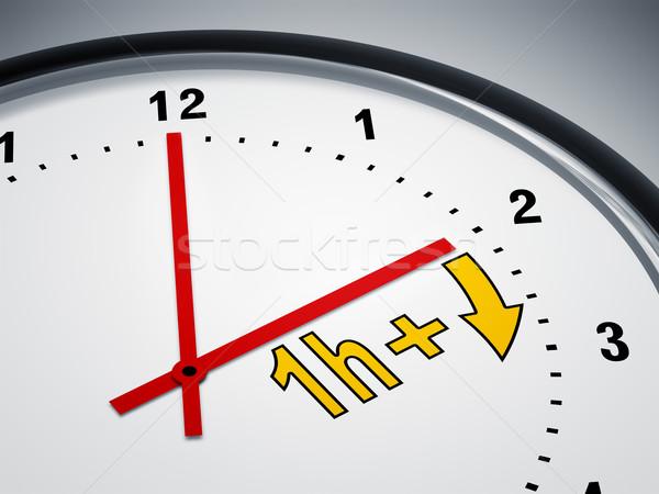 Daglicht besparing tijd afbeelding mooie klok Stockfoto © magann