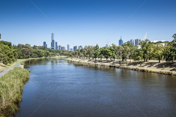 Мельбурн изображение Nice Skyline бизнеса строительство Сток-фото © magann