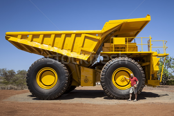 big yellow transporter Stock photo © magann