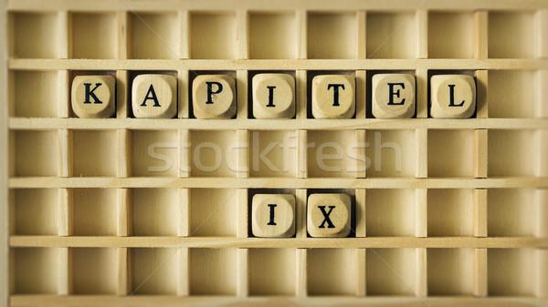 Capítulo nove linguagem imagem jogo Foto stock © magann
