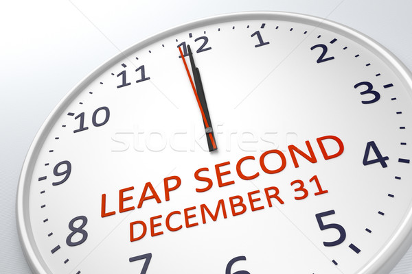 a clock showing leap second at december 31 Stock photo © magann