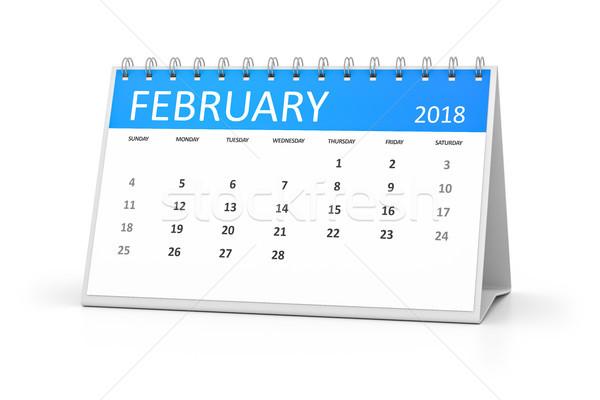 table calendar 2018 february Stock photo © magann