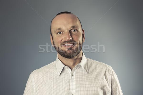 bearded smiling man portrait Stock photo © magann