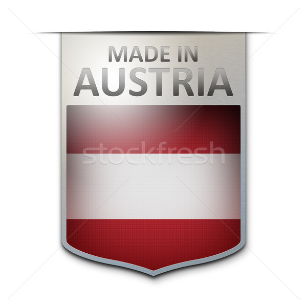 Austria placa imagen agradable diseno signo Foto stock © magann