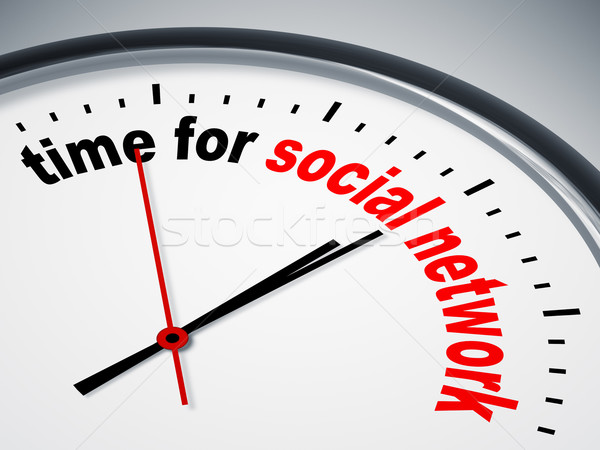 time for social network Stock photo © magann