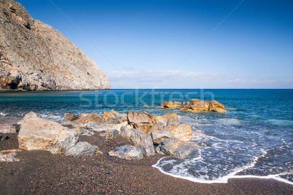Santorini Görögország kép szép tengerpart víz Stock fotó © magann