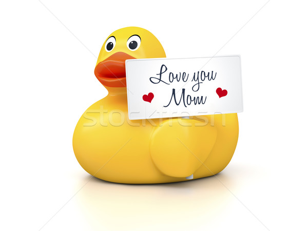 Rubber Ducky Mothers Day Stock photo © magann