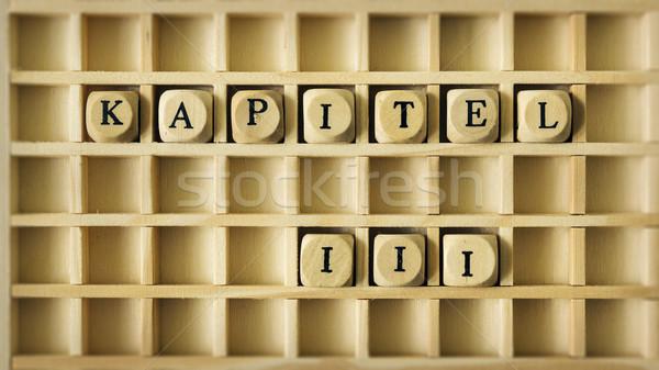 Capítulo tres idioma imagen juego Foto stock © magann
