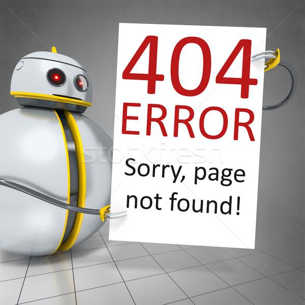 甘い ロボット ボード エラー 404 ストックフォト © magann