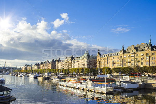 Stockholm capital city of Sweden Stock photo © magann