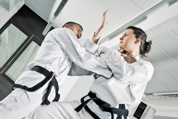 Vechtsporten afbeelding twee man sport gezondheid Stockfoto © magann