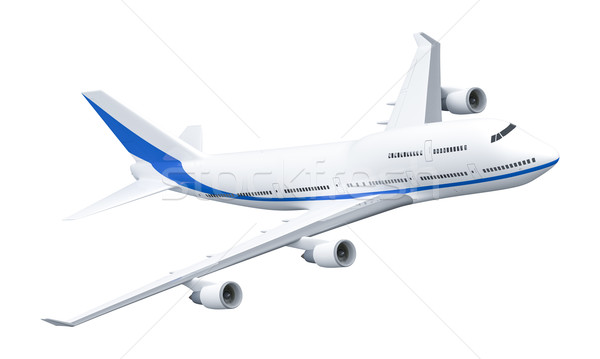 Airplane 747 Stock photo © magann
