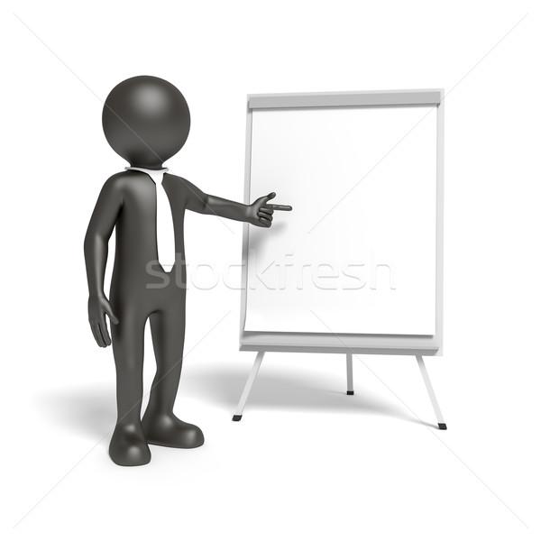 man flip chart Stock photo © magann