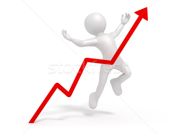 Heureux homme d'affaires image affaires résumé affaires Photo stock © magann