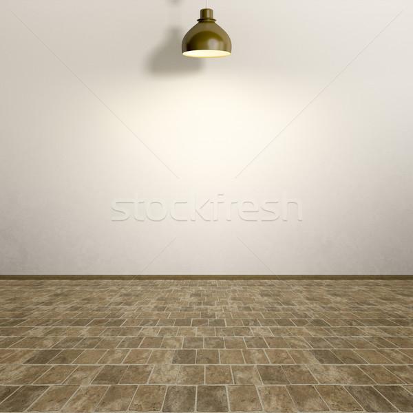 üres szoba lámpa saját tartalom ház textúra Stock fotó © magann