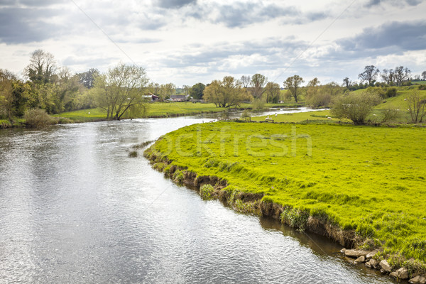 Paisaje paisaje imagen hierba verde piedra Foto stock © magann