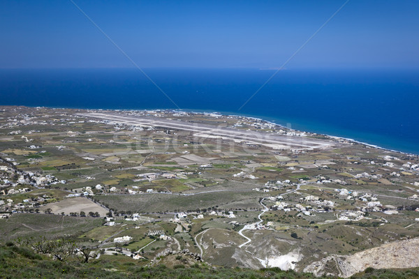 Santorini lotniska obraz Grecja morza ruchu Zdjęcia stock © magann