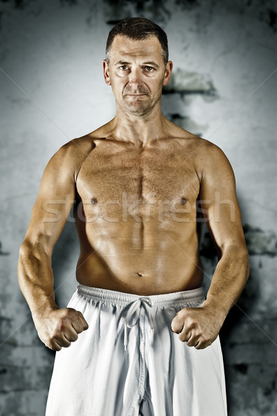 Artes marciais mestre imagem homem esportes saúde Foto stock © magann