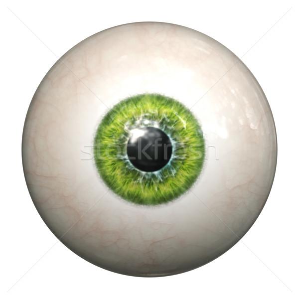 Groene oog afbeelding geïsoleerd oogappel licht Stockfoto © magann