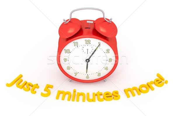 red alarm clock Stock photo © magann
