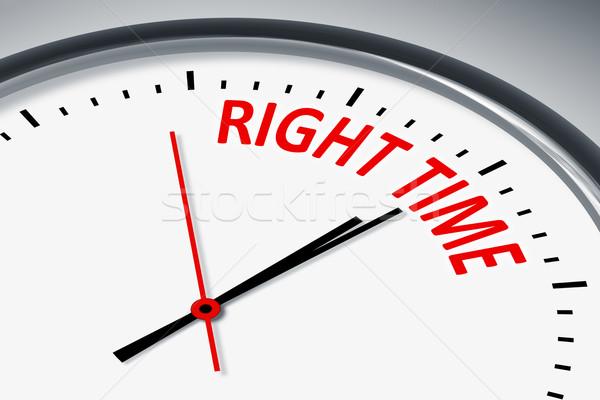 Doğru zaman örnek saat metin başarı Stok fotoğraf © magann